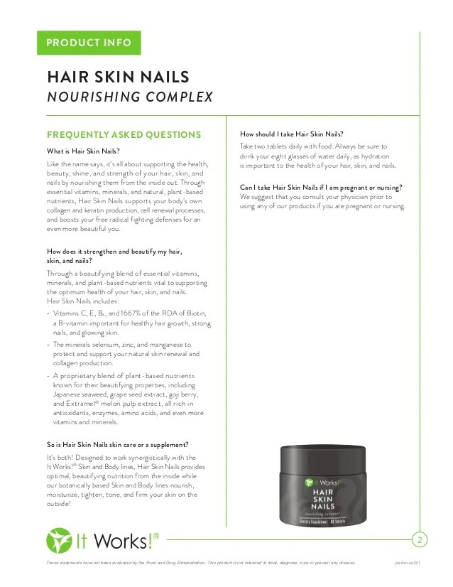 It Works Hair Skin And Nails Supplement Reviews - Best Nail 2018