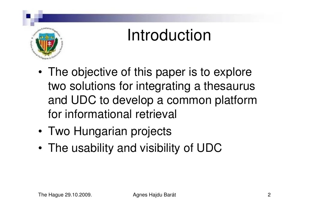 Integration of thesaurus and UDC to improve subject access