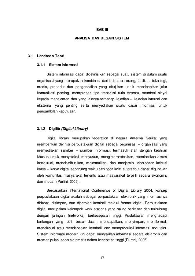 Contoh Landasan Teori Skripsi Teknik Informatika