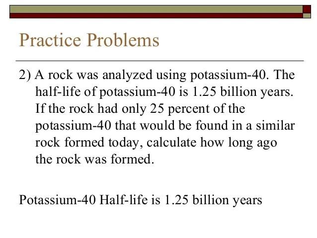 Halflife And Practice Problems