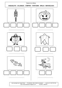 Fichas Halloween