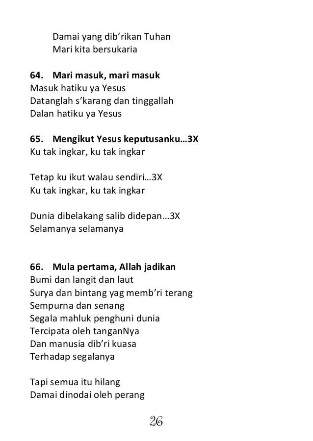 Lirik Lagu Ku Dibri Kuasa : lirik, dibri, kuasa, Handbook, Sekolah, Minggu