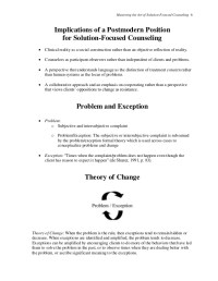 Solution Focused Brief Therapy Worksheets Free Worksheets ...