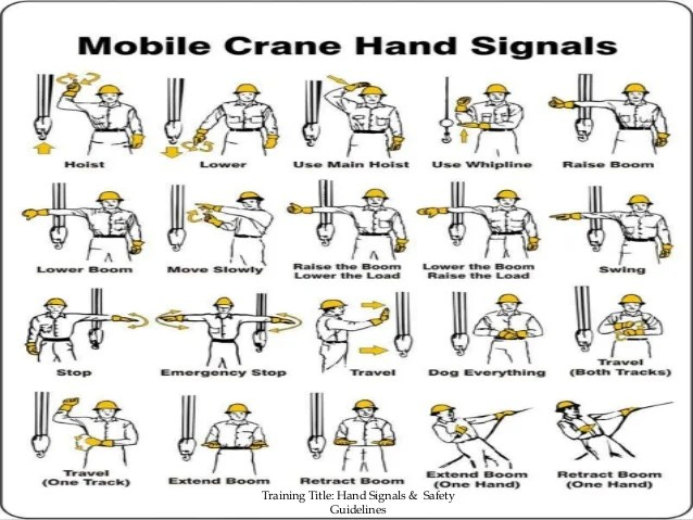 hand signals safety guidelines
