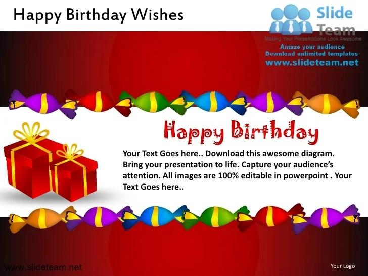 Happy Birthday Wishes Powerpoint Ppt Slides
