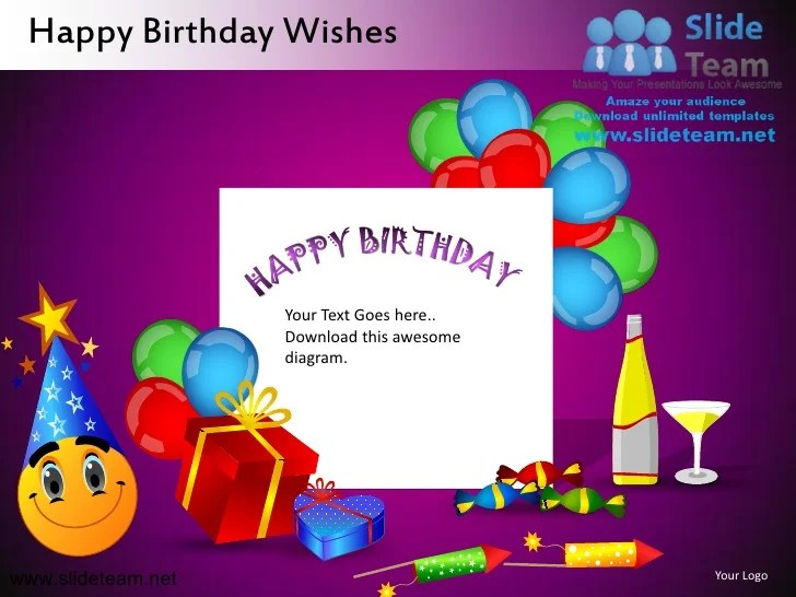 Powerpoint Templates Birthday Microsoft Postcard Templates