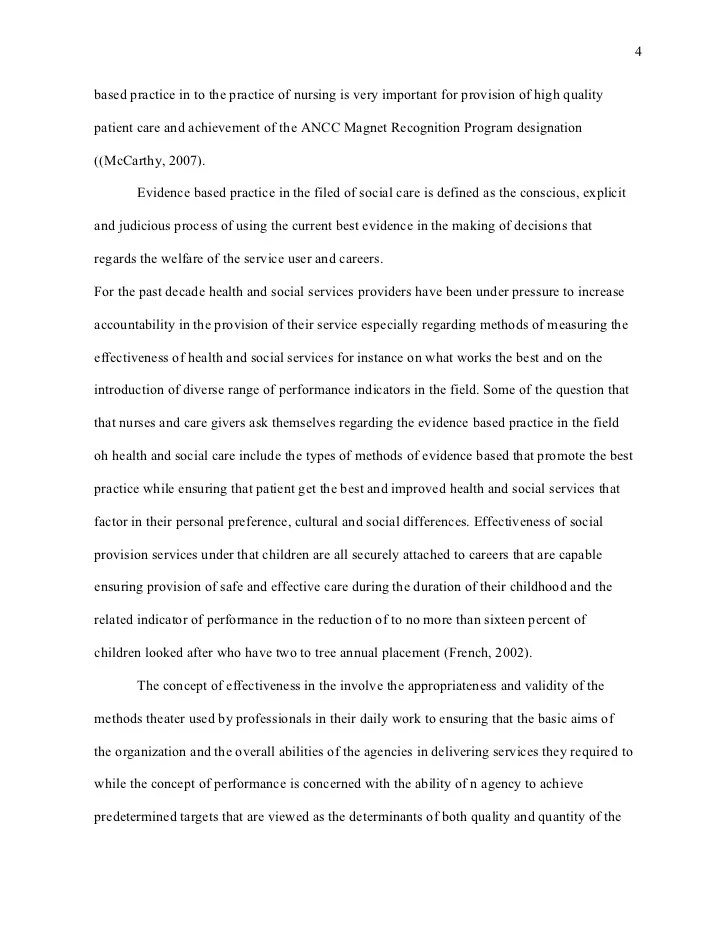 Harvard Style Research Paper Nursing Evidenced Based Practice