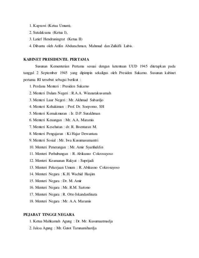 Hasil Sidang Ppki Ke 1 : hasil, sidang, Hasil, Sidang