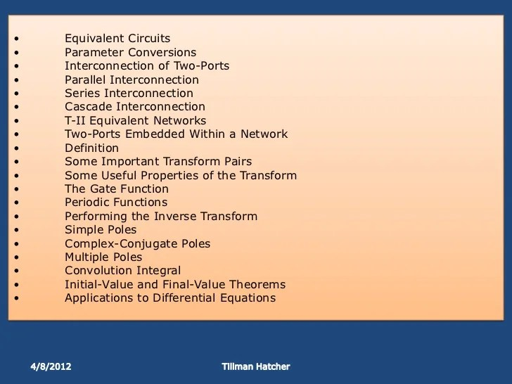 Series And Parallel Component Equivalent Values Useful Equations And