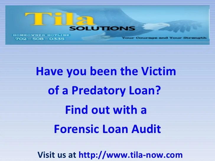 Have you been the Victim of a Predatory Loan? Find out ...