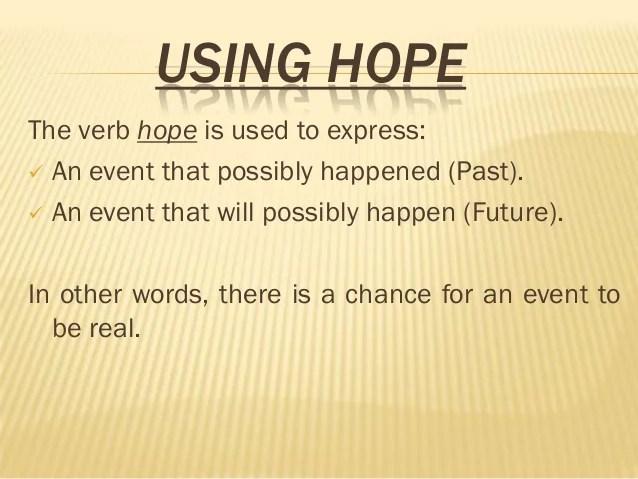 HOPE AND WISH - WEB20 - January 20th. 2013
