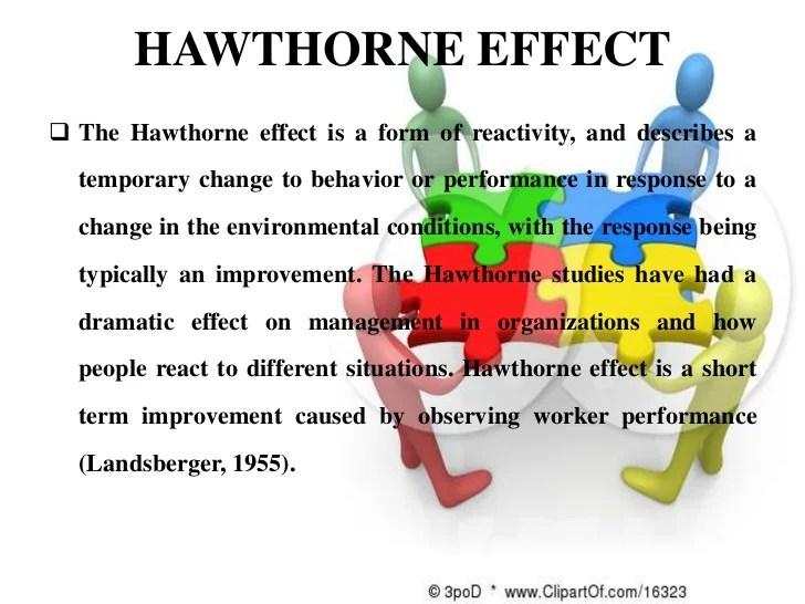 Hawthrone effect