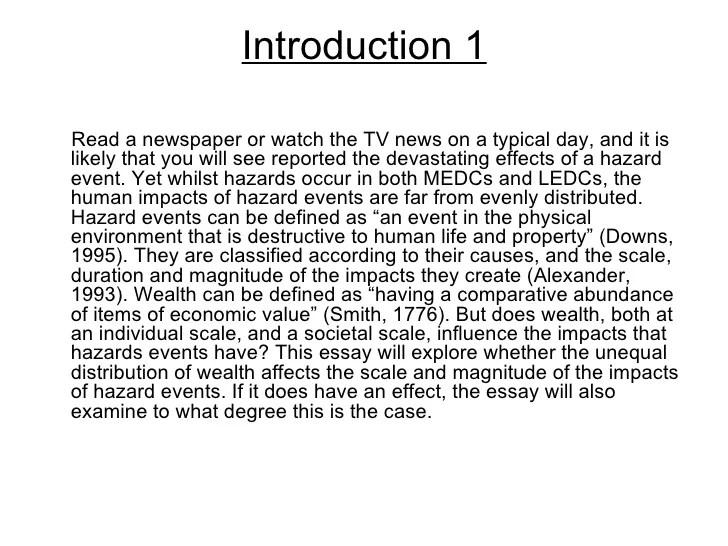 Essay Of Earthquake Hazards Essay Introduction File Defense Gov
