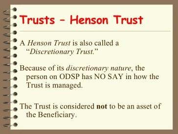 Henson Trusts