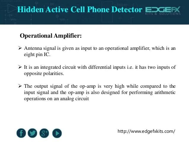 Block Diagram Of Hidden Active Cell Phone Detector