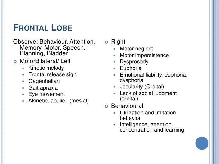 Lobe Lesion Left Frontal