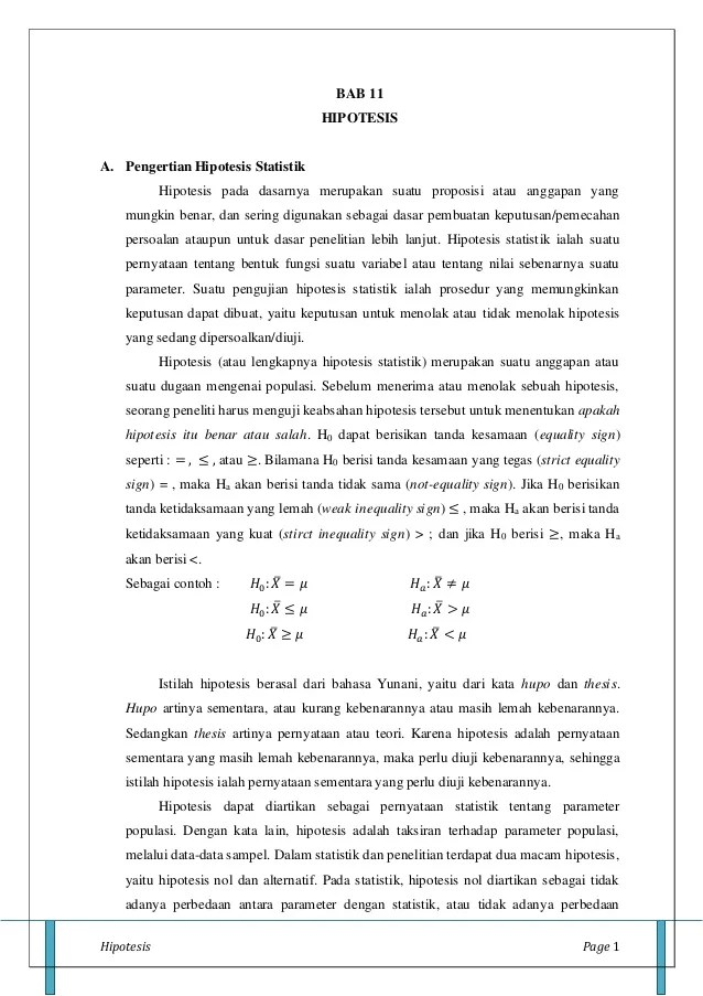 Contoh Soal Uji Hipotesis : contoh, hipotesis, Hipotesis(11)