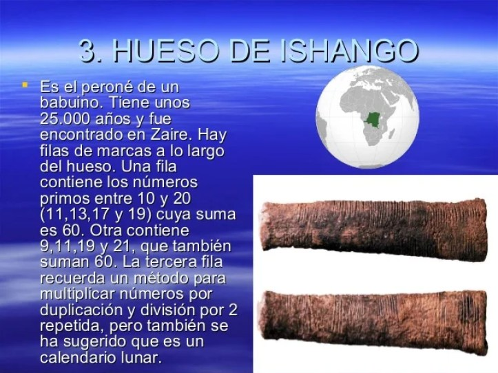 Resultado de imagen para hueso Ishango