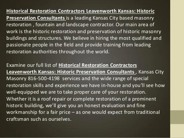 stone dutchman historical restoration contractor kansas historic preservation consultants160722215132 2 638 Dutchman Stone Repair According to ASTM E2659 09