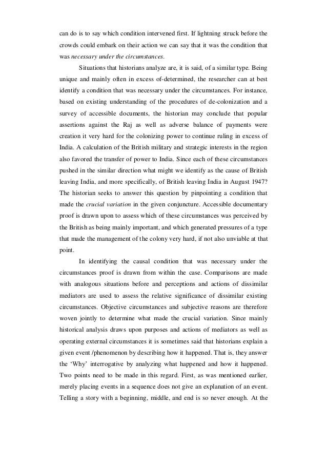 Historiographic Essay Sample  Mistyhamel