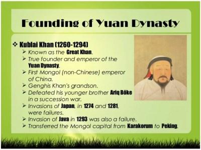 Image result for kublai khan Yuan dynasty of Mongolia and China