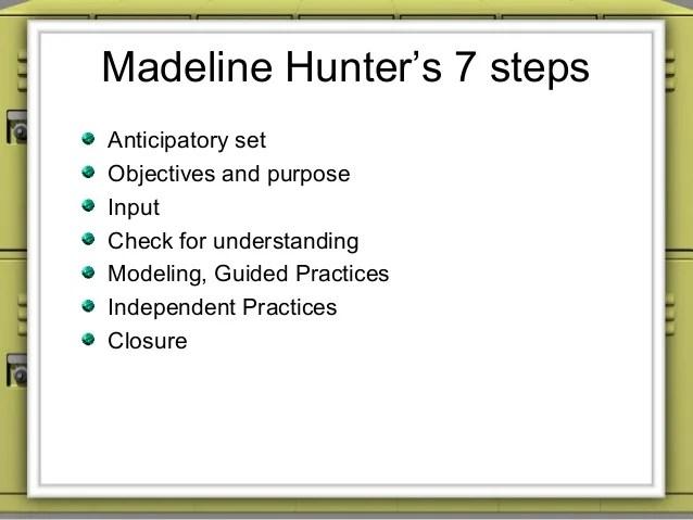 Sample madeline hunter lesson plan template lesson plan for Regis lesson plan template
