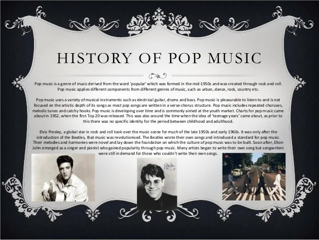 History Of Pop Music