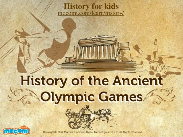 History Of The Ancient Olympic Games Mocomi