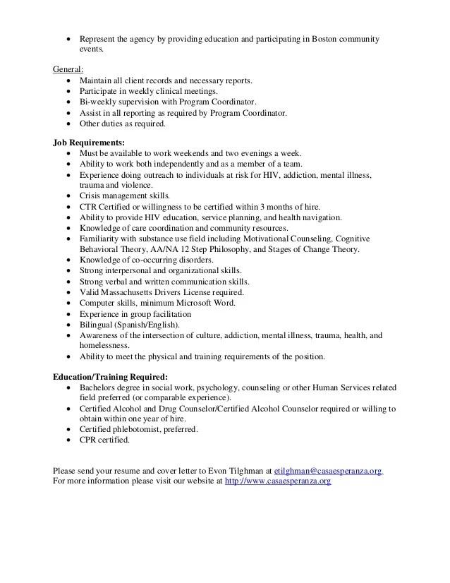 Crisis Management Coordinator Job Description   Sample ...