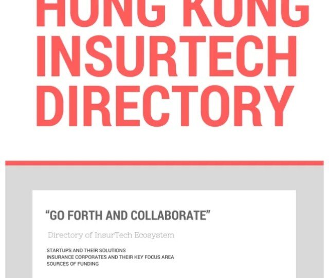 Hong Kong Insurance Tech Directory V