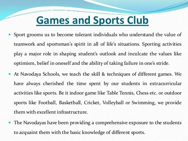 essay on value of sports in life Importance of games and sports in life the values that can be learned by playing sports 11 important life skills you might lack if you didn't play sports.