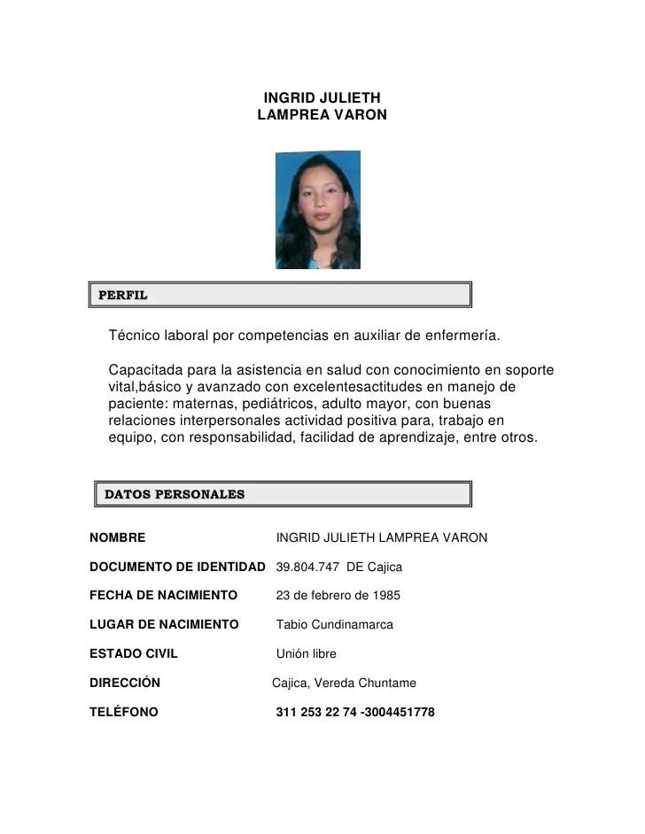 Formato De Curriculum Vitae En Pdf Para Llenar Sample Resume Service