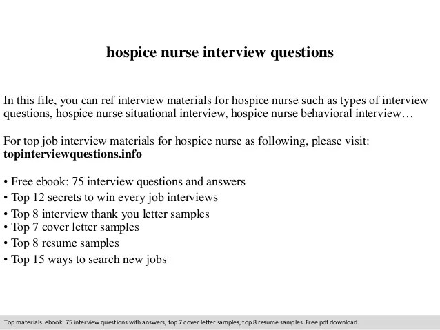 Resume Resume Sample For Hospice Nurse Hospice Nurse Resume Examples  Interview Questions  Hospice Nurse Resume