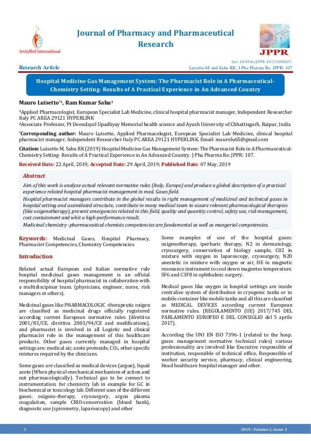 hospital medicine gas management