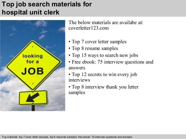 Hospital Clerk Resume | Cover Letter And Resume Samples By ...