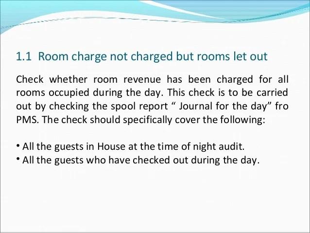 Hotel industries audit_check_list_room_revenue