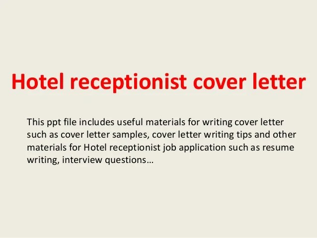 Cover Letter For Receptionist Post Best Create