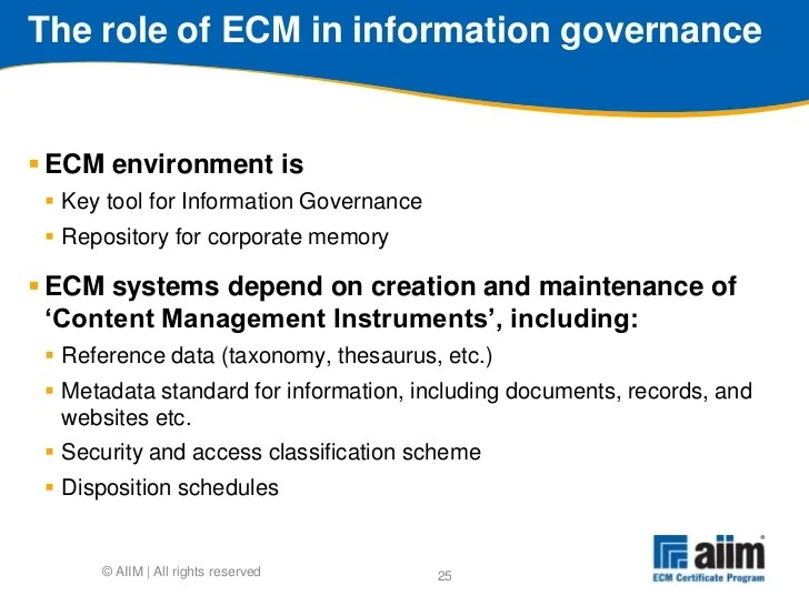 How to implement ECM