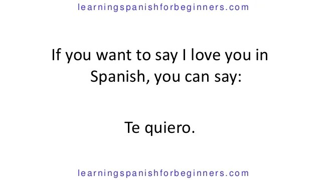 Different Ways Say I Love You Spanish