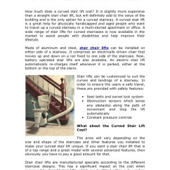 How Much Does A Stair Lift Chair Cost Wire Spool Curved