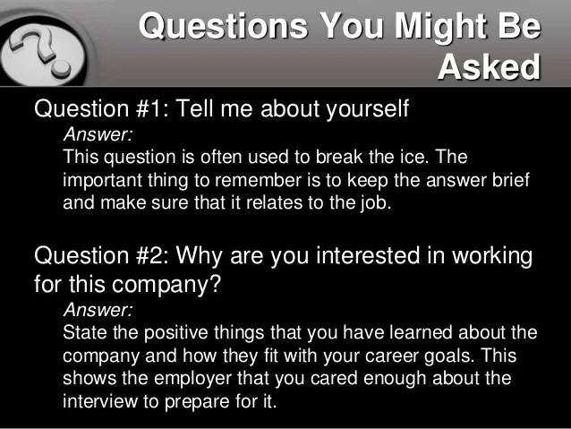How To Answer 10 Common Interview Questions