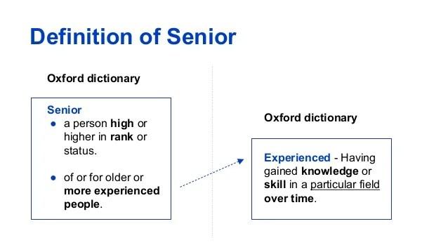 definition of senior