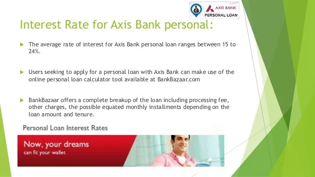 Emi Calculator Axis Bank Personal Loan