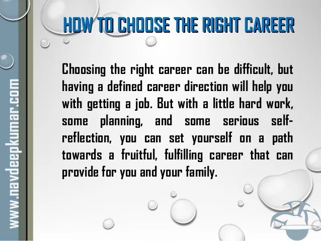 How to Choose Career Option