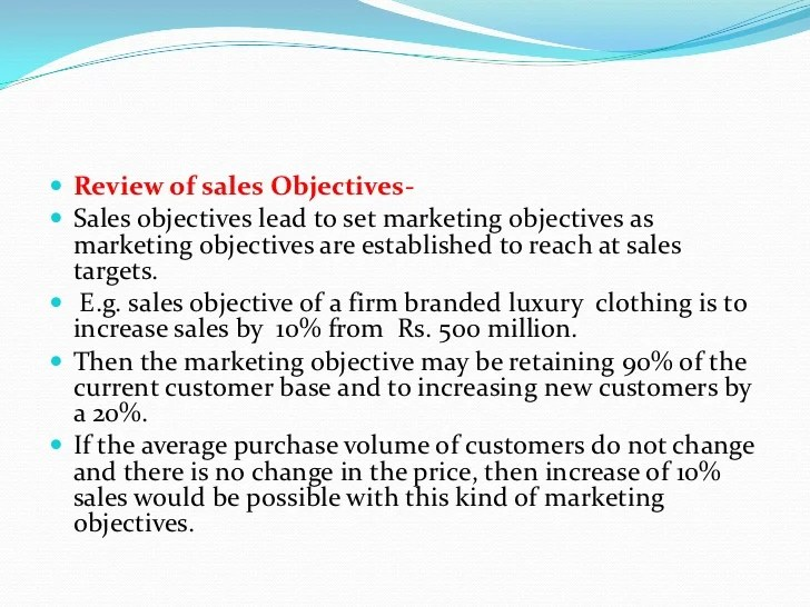 How to develop marketing objectives