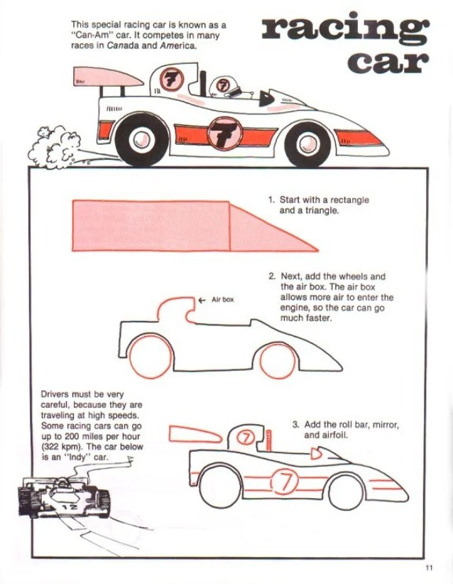 How To Draw A Race Car : Howto, Techno