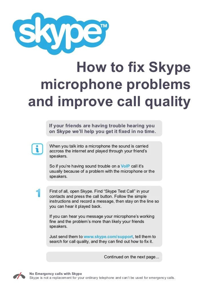 How to Fix Skype Microphone Problems and Improve Call Quality