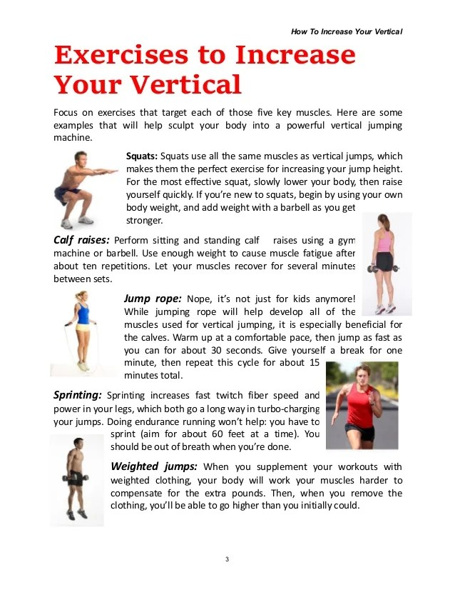 How to Increase Your Vertical?