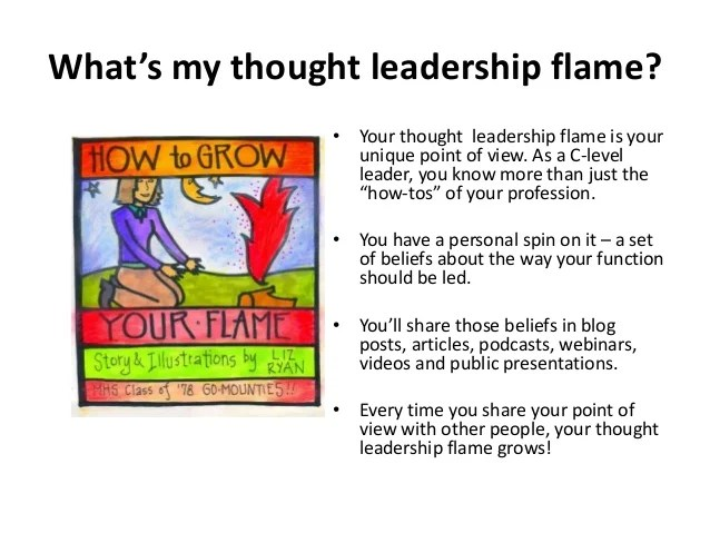 What S My Thought Leadership Flame