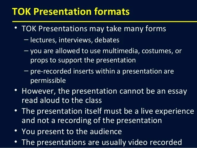 How to make a great Theory of Knowledge presentation